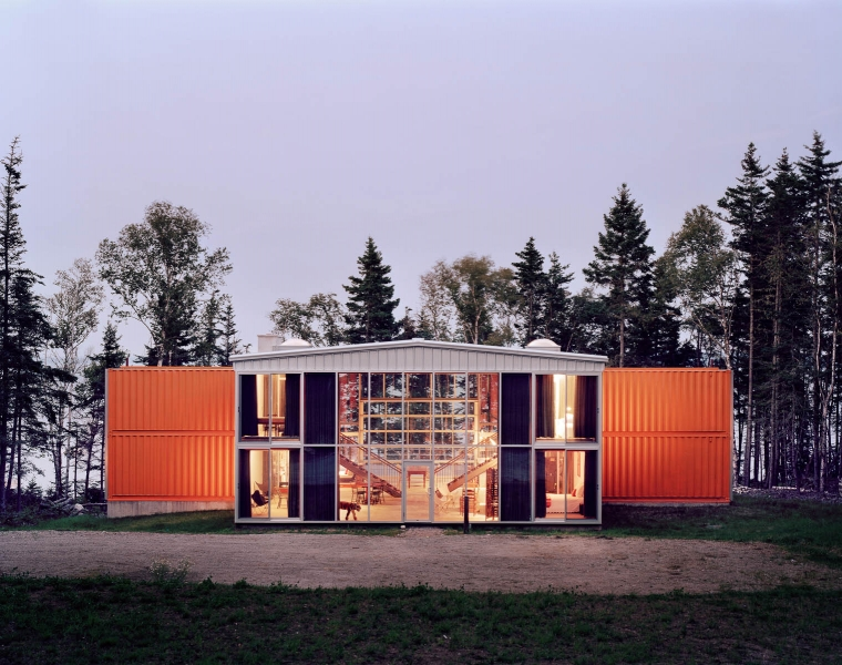 Metal Container Homes cargotexture metal container housing comes to maine - sheridan