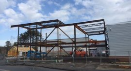 Freeport High School construction within budget, on schedule